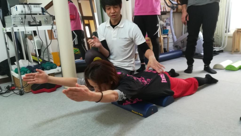 美胸郭アプローチストレッチポールの講習会参してきました