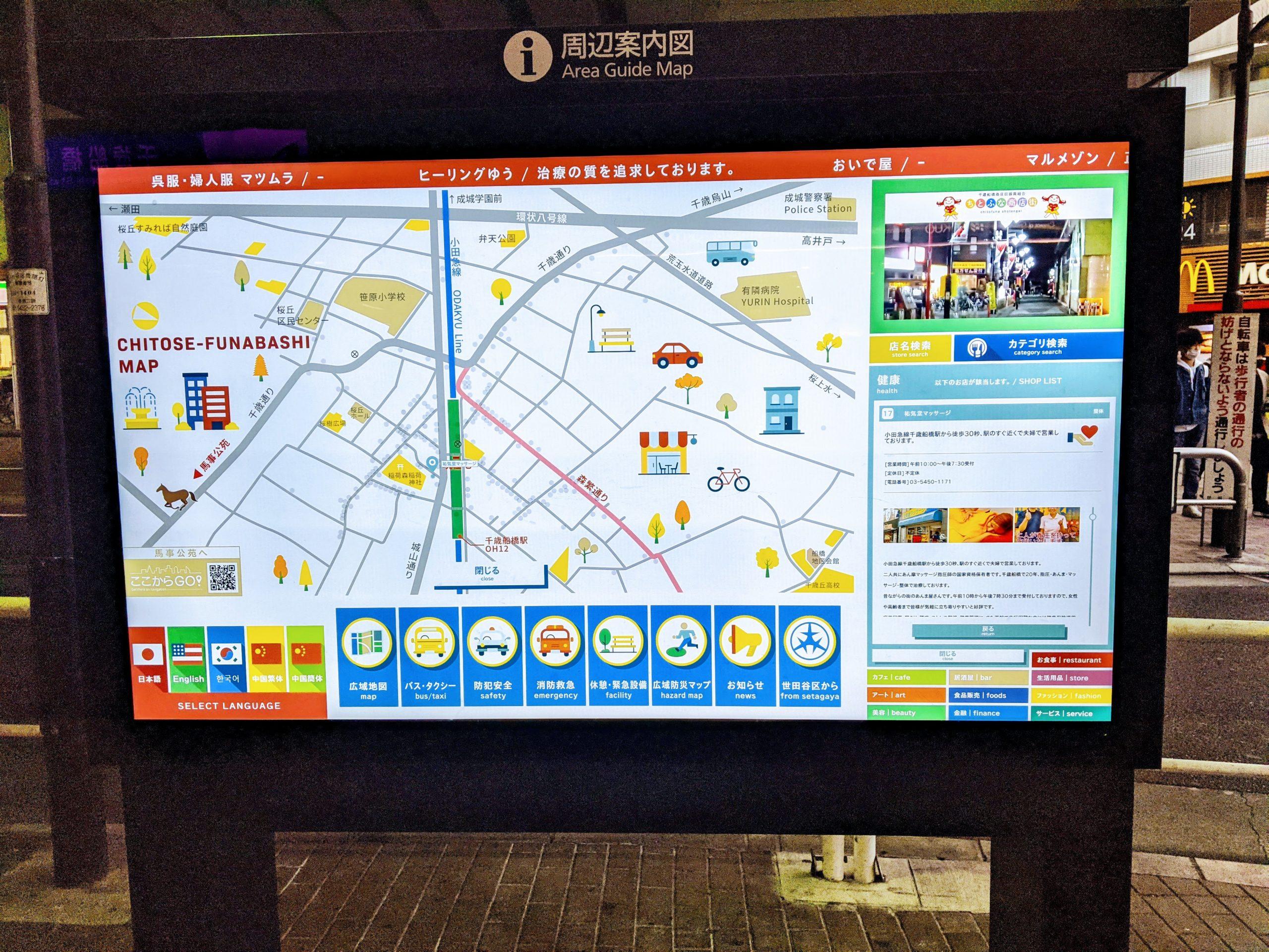 千歳船橋駅 案合図